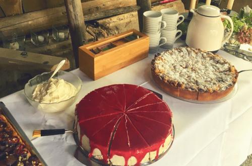 Vollkornkuchen, Vollkornbiskuit, Dinkelbiskuit, Himbeer-Mascarpone-Torte, Himbeer-Frischkäse-Torte, Geburtstagstorte