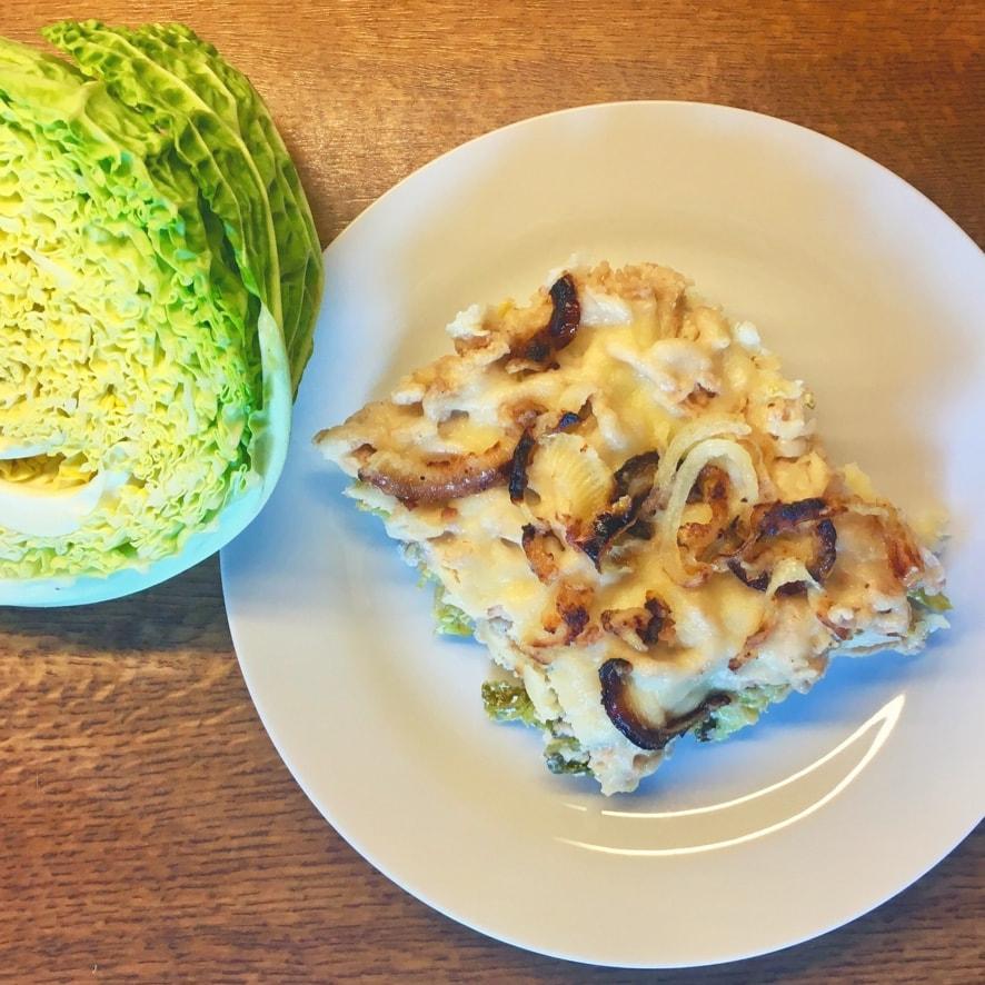 Leckere Vollkorn-Käsespätzle mit Wirsing