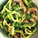 Zucchini-Spaghetti mit leckerem Petersilienpesto, Zoodles, Clean Cooking